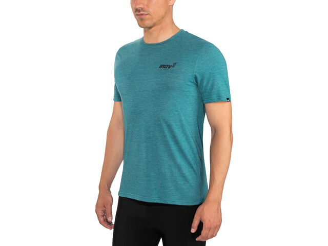 inov-8 Tri Blend Forged SS Tee Herr blue/green